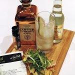 Copperhead gin – Toast met Brugse kaas, peer, venkel en rucola
