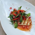 Recept: Gegrilde halloumi – Geroosterde paprika – Granaatappel