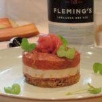 Toast met foie gras, rabarber en filet d'Anvers- Fleming's Gin
