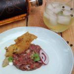 Tartaar van lamsvlees – Ras el Hanout – Hentho gin