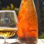 Homemade honing-whisky likeur