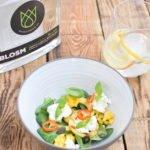 Blosm gin – Salade van gegrilde appel, mango en mozzarella