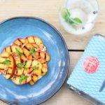 Nginiouis Summer Gin – Gegrilde nectarine – Yoghurt