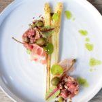 Rundstartaar – Gebrande asperges – Pancetta