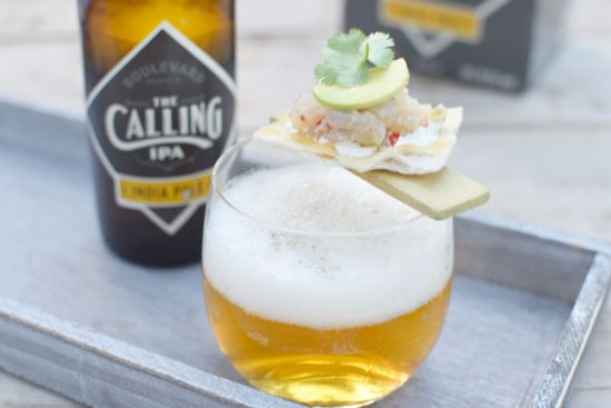 Tartaar van zeebaars - zure room - avocado - The Calling IPA