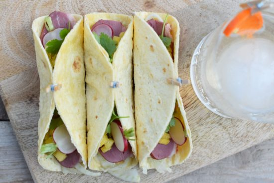 GemBlue Barrel Gin - Tortilla met gerookte eend